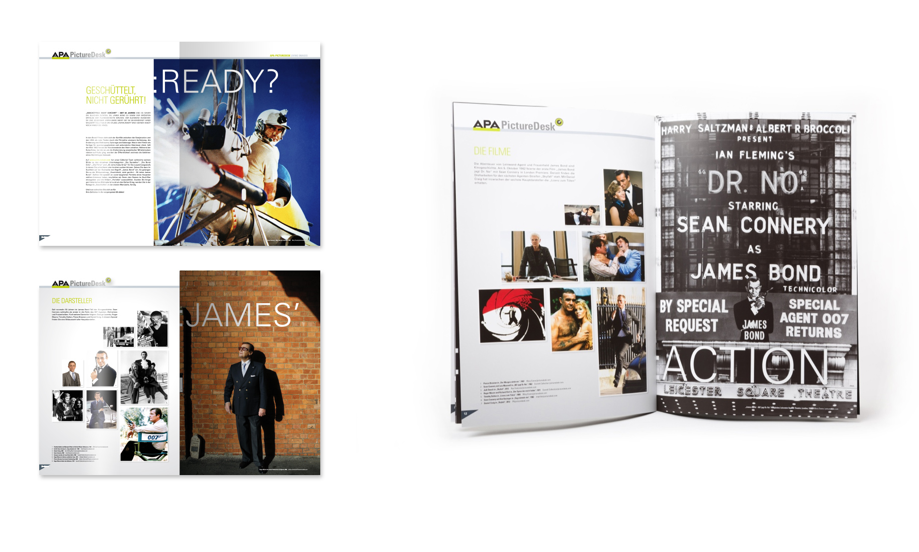 "PictureDesk Special 01/2012 ""James Bond"", Doppelseitenansichten"