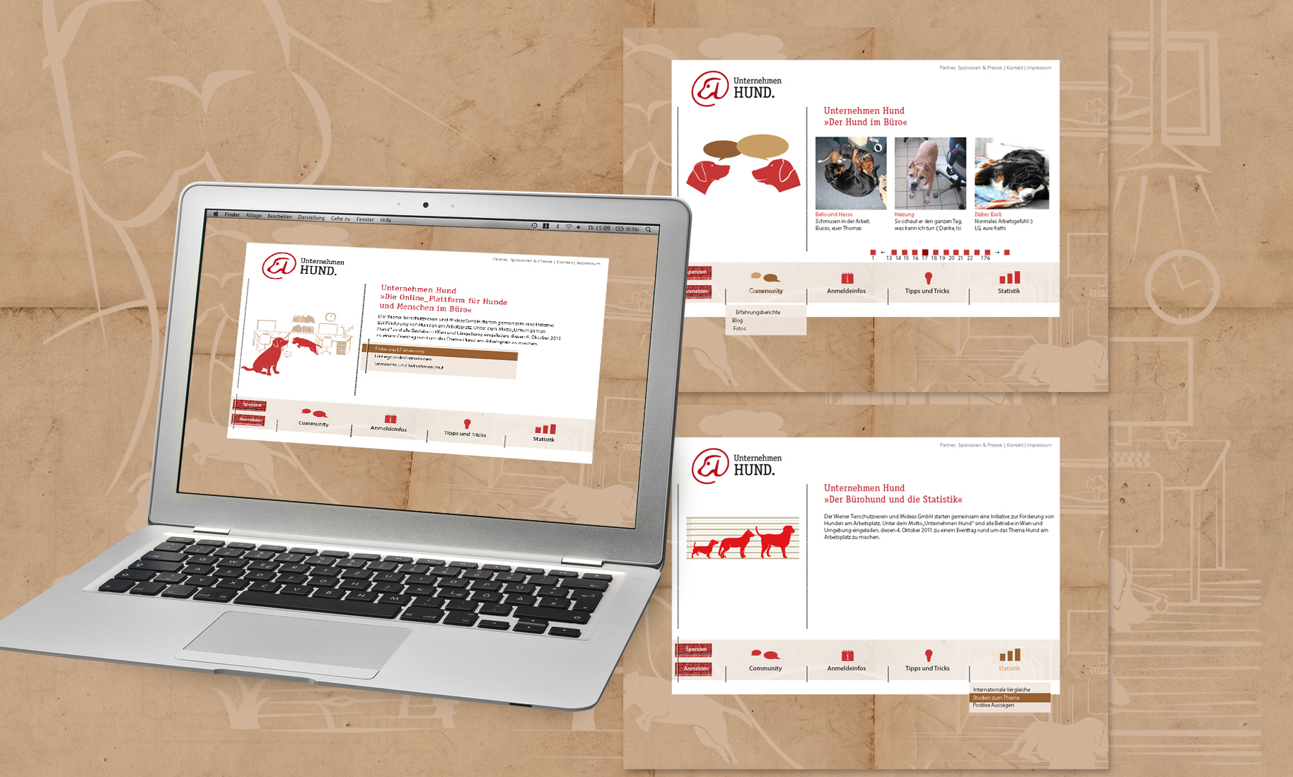 Web-Design zur Eventsite