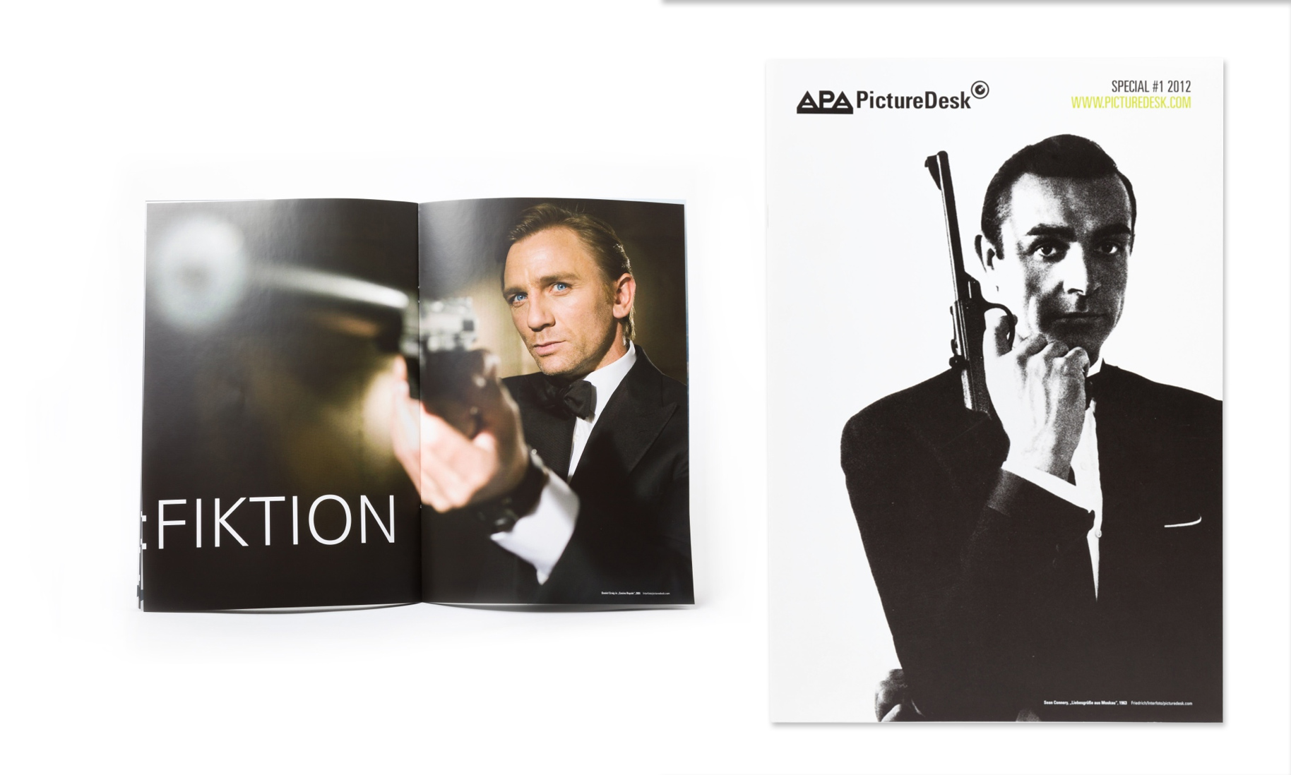 "PictureDesk Special 01/2012 ""James Bond"", Cover- und Doppelseitenansicht"